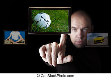 internet TV broadcasting - all photos and design made by me,...