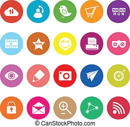 Internet useful flat icons on white background