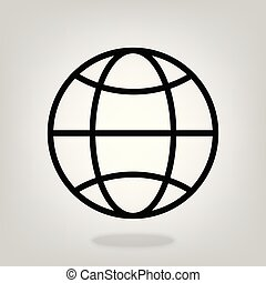 Internet vector flat icon. Go to web sign