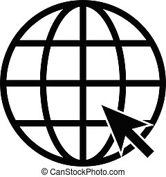 Internet vector flat icon.Go to web sign. for web site design, logo, app, UI. illustration, EPS10.