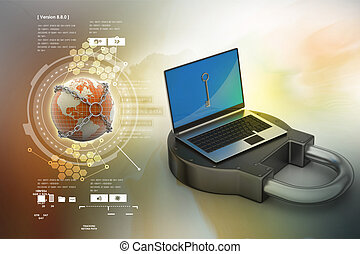 internet veiligheid, concept