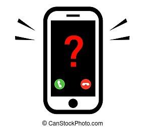 internet, vetorial, desconhecidas, branca, number., fraudster., fundo, telefone