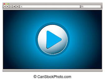 internet, video, browser