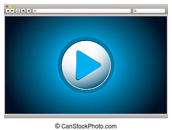 Internet video browser - Web internet computer browser with...