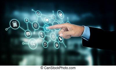 Internet virtual application screen