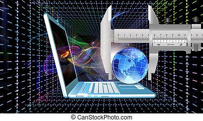 internet., vitesse, connexion, élevé