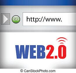 Internet web 2.0 browser