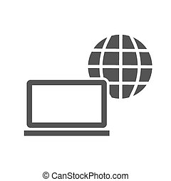 Internet, web, connection, computer icon vector image. Can...