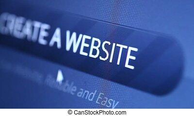 internet web, exposer, mené, icône