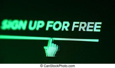 Internet web icon on LED display