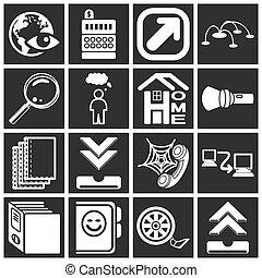Internet web icon series set