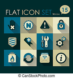 internet & web icon set