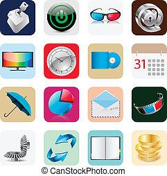 Internet Web Icons Isolated