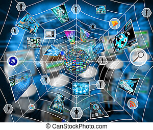 Internet web - Many abstract images on the theme of...