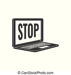 Internet website access forbidden concept vector
