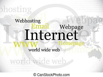 internet, welt, design, breit, web