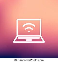 Internet wifi thin line icon