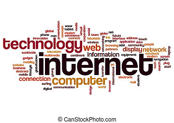 Internet word cloud concept