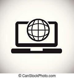 Internet world banking on white background