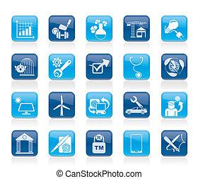 internet, y, sitio web, portal, iconos