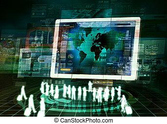 internet zaak, presentatie