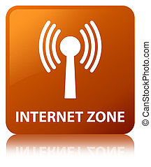 Internet zone (wlan network) brown square button