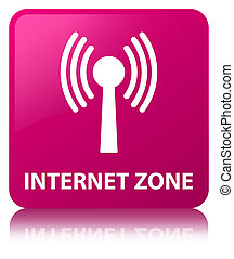 Internet zone (wlan network) pink square button