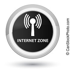 Internet zone (wlan network) prime black round button