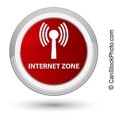 Internet zone (wlan network) prime red round button