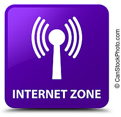 Internet zone (wlan network) purple square button