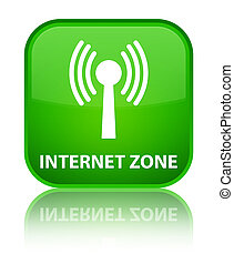 Internet zone (wlan network) special green square button