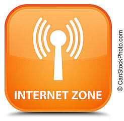 Internet zone (wlan network) special orange square button