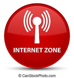 Internet zone (wlan network) special red round button