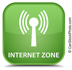 Internet zone (wlan network) special soft green square button