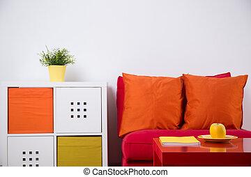 interno, adolescente, disegno, camera letto