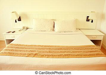 interno, albergo, lusso, stanza