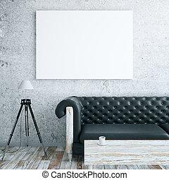 interno, apparecchiatura, whiteboard