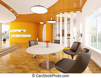 interno, appartamento, moderno, render, 3d