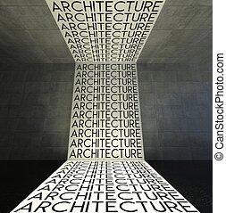 interno, architettura moderna, parete