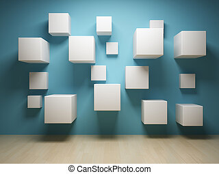 interno, astratto, cubi