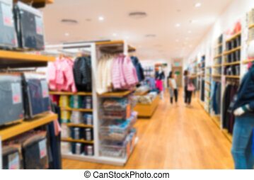 interno, astratto, deposito vestiti, offuscamento