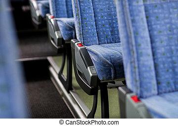 interno, autobus, viaggiare, posti