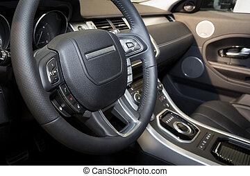 interno, Automobile, moderno, dettaglio