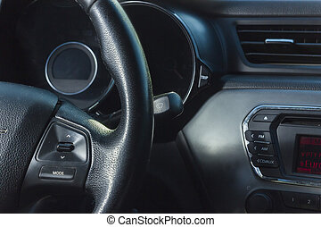 interno, automobile, salone, vista