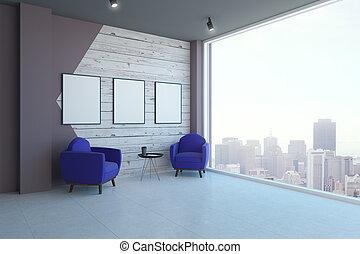 interno, bandiere, stanza moderna