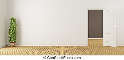 interno, bianco, porta, vuoto