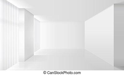 interno, bianco, vettore, vuoto