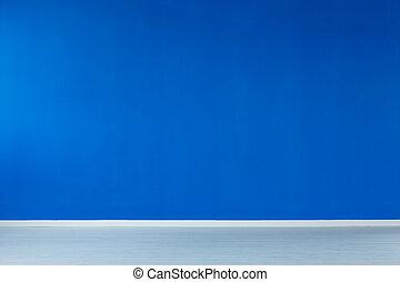 interno, blu, vuoto, parete
