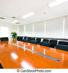interno, boardroom, moderno, ufficio