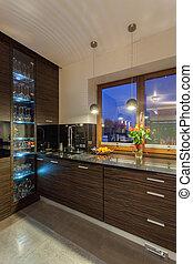 interno, casa, cucina, -, rubino